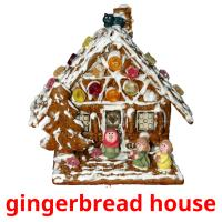 gingerbread house picture flashcards
