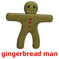 gingerbread man picture flashcards