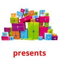 presents picture flashcards