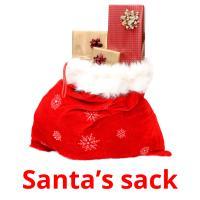 Santa's sack picture flashcards