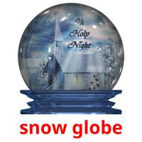 snow globe picture flashcards