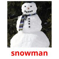snowman picture flashcards