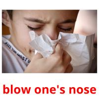 blow one's nose picture flashcards
