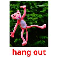 hang out picture flashcards
