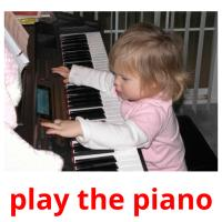 play the piano picture flashcards