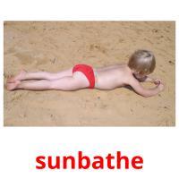 sunbathe picture flashcards