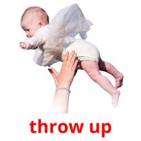 throw up picture flashcards