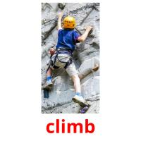 climb picture flashcards