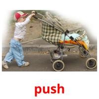 push picture flashcards