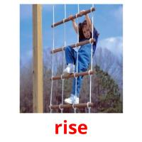 rise picture flashcards