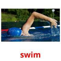 swim picture flashcards