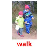 walk picture flashcards