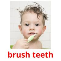 brush teeth picture flashcards