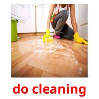 do cleaning picture flashcards