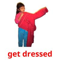 get dressed picture flashcards