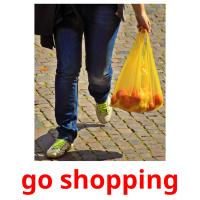 go shopping picture flashcards