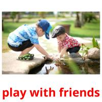 play with friends picture flashcards