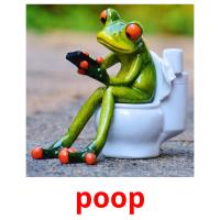 poop picture flashcards
