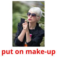 put on make-up picture flashcards