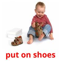 put on shoes picture flashcards