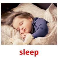 sleep picture flashcards