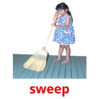 sweep picture flashcards
