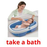take a bath picture flashcards