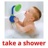 take a shower picture flashcards