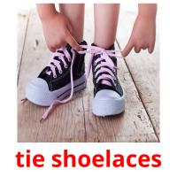 tie shoelaces picture flashcards