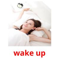 wake up picture flashcards