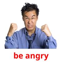 be angry picture flashcards