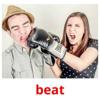 beat picture flashcards