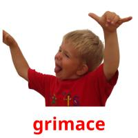 grimace picture flashcards