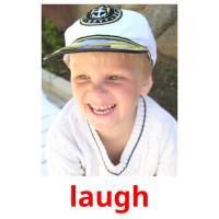 laugh picture flashcards