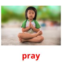 pray picture flashcards