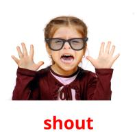 shout picture flashcards