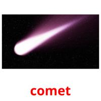 comet picture flashcards