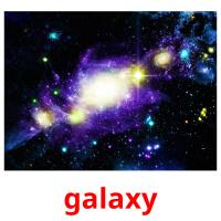 galaxy picture flashcards