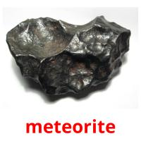 meteorite picture flashcards