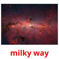 milky way picture flashcards