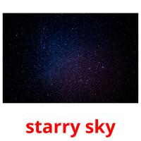 starry sky picture flashcards