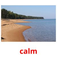 calm picture flashcards