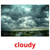 cloudy picture flashcards