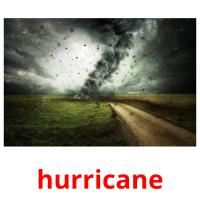 hurricane picture flashcards