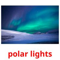 polar lights picture flashcards