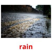 rain picture flashcards