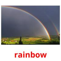 rainbow picture flashcards