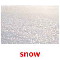 snow picture flashcards
