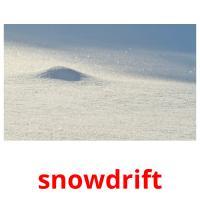 snowdrift picture flashcards