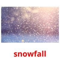 snowfall picture flashcards
